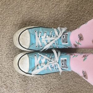 Blue Converse All Star Shoes Size 8